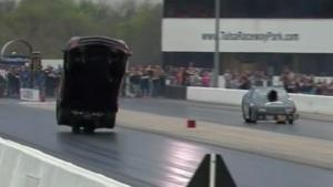 Corvette Dragracer Goes Airborne