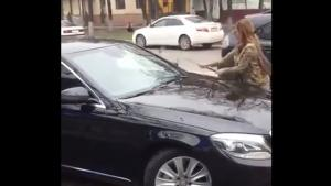 Pissed Off Lady Takes It Out On Mercedes