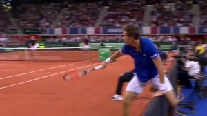 Epic Save From Tennis Player