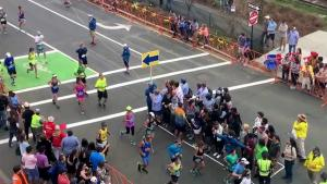 Crossing The Street During Marathon