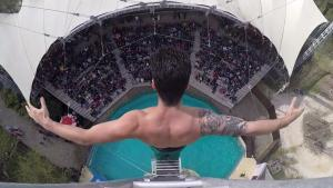 Spectacular Jump In Pool