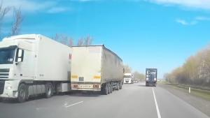 Truck Driver Takes Nap Behind The Wheel