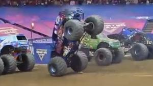 Bizarre Monster Truck Stunt