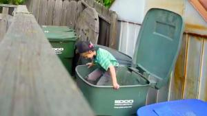Garbage Bin Prank With A Twist