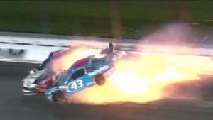Bizarre Crash In Nascar Race