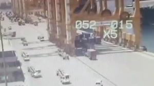 Massive Crane Collapses After Collision