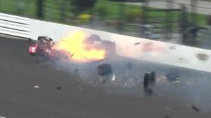 Big Crash At Indy 500