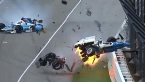 Bizarre Crash At Indy 500