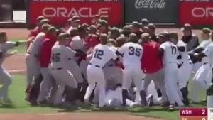 Massive Brawl At Baseball Game