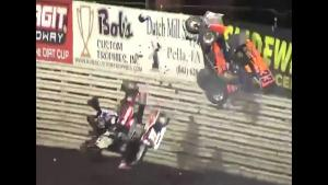 Sprint Car Goes Airborne