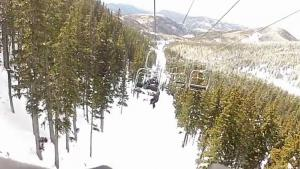 Guy Falls From Ski Lift