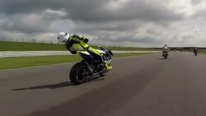 Motor Racer Faints On Bike