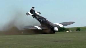 Spitfire Take Off Goes Horribly Wrong
