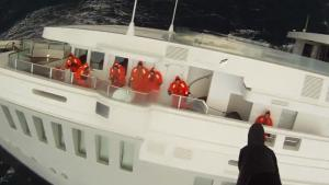 Rescue Operation For Sinking yacht