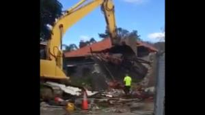 Lucky Escape On Demolition Site