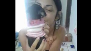 Chihuahua Pissing In Girls Mouth