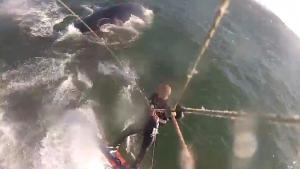 Kite Surfer Hits Humpback Whale
