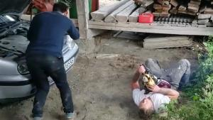 Friend Faints After Extreme Chainsaw Prank