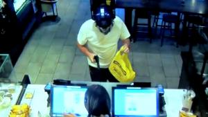 Customer Takes Out Robber In Starbucks
