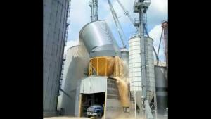 Corn Silo Collapses And Causing Explosion