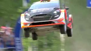 Rally Car Makes Spectacular Jump