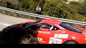 Ferrari Crashes On Hill Climb