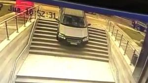 Motorist Takes The Stairs