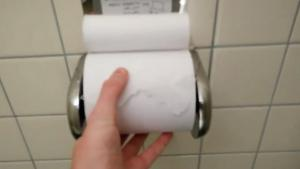Changing Toilet Paper Fast