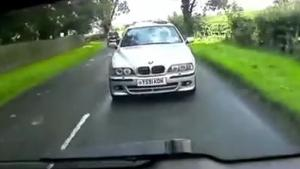 Karma For Aggressive BMW Driver