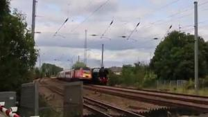 Commuter Train Ruins Trainspotters Day