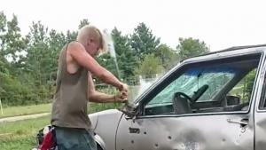 Car Hits Back At Redneck