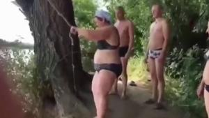 Mom's Rope Swing Attempt