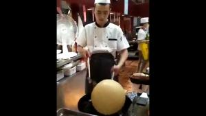Making A Fried Chinese Rice Ball