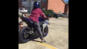 First Motorcycle Lesson For Woman