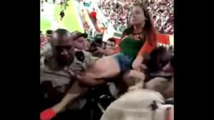 Drunk Teen Violently Dragged From Stadium