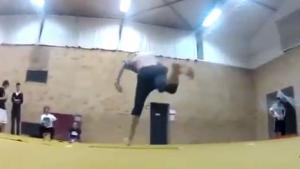 Gymnast Has Horrific Landing